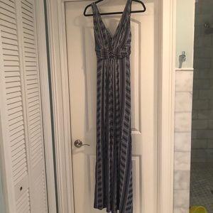 Tart Navy and White Maxi Print Dress